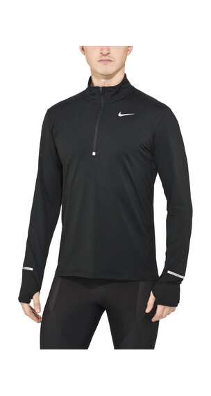 Nike Dri-FIT Element Half-Zip - T-shirt manches longues running Homme - noir
